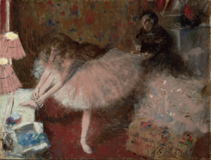 Danseuse dans sa loge dancer in her dressing room Clark Institute Williamstown 300x227 BIOGRAPHIE