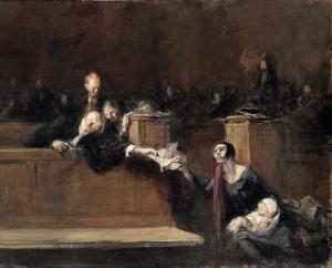 Scène de tribunal court scene musée du Louvre 1925 300x242 BIOGRAPHY