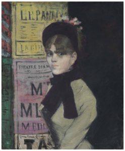 2018 NYR 16721 0519 000jean louis forain la femme aux affiches 248x300 Une remarquable «femme aux affiches» de la collection de Peggy et David Rockefeller va etre dispersée lors de la vente du siècle à Christies New York en mai prochain.