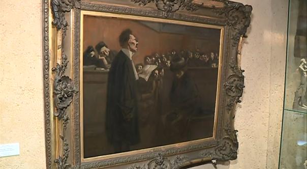 Jean Louis Forain En correctionnelle entre 1852 et 1927 huile sur toile 590 x 735 cm musée Arthur Rimbaud musée de lArdenne Charleville Mézières France 2 En correctionnelle de Jean Louis forain devient un tableau sculpté en 3D