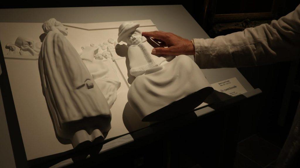 Jean Louis Forain en En correctionnelle huile sur toile peinture painting  1024x576 En correctionnelle de Jean Louis forain devient un tableau sculpté en 3D