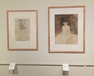 Custodia Forain Jean Louis Portrait de Jeanne Forain et Renoir 300x244 Derniers jours pour admirer le portrait de Jeanne Forain présenté à l'exposition Cinq cents ans de dessins de maîtres à la Fondation Custodia