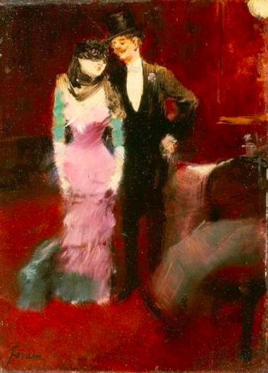 Jean Louis Forain Sortie de Bal Masqué 1880 Derniers jours pour admirer le portrait de Jeanne Forain présenté à l'exposition Cinq cents ans de dessins de maîtres à la Fondation Custodia